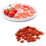 Fresh tomato prepared to dehydrated and dried slices Royalty Free Stock Photography