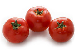 Fresh tomato. Red tomato on white background royalty free stock photography