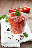 Fresh tomato salad Royalty Free Stock Image