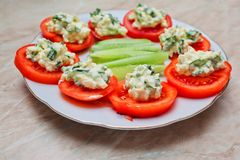 Fresh tomato salad Royalty Free Stock Photography
