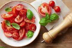 Fresh tomato salad Royalty Free Stock Photography