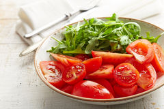 Fresh tomato salad Stock Image