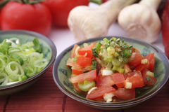 Fresh tomato salad Royalty Free Stock Images