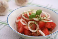 Fresh tomato salad Stock Images