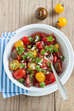 Fresh tomato salad. With onion and parsley Royalty Free Stock Photo