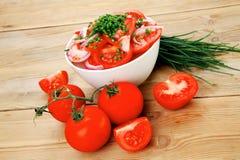 Fresh tomato salad stock photos
