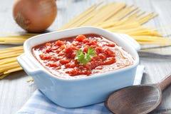 Fresh Tomato Sauce Stock Photography