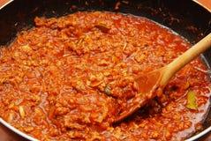 Fresh tomato sauce, ragu. Fresh tomato sauce for lasagna Royalty Free Stock Photography