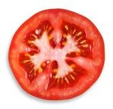 Fresh tomato slice closeup Stock Photos