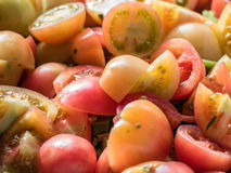 Fresh tomato sliced Stock Images