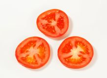 Fresh tomato slices Royalty Free Stock Image
