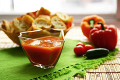 Fresh tomato soup Stock Photos