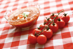 Fresh tomato soup Stock Images