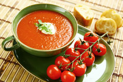 Fresh tomato soup Royalty Free Stock Photos