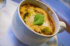 Fresh tomato soup Stock Images
