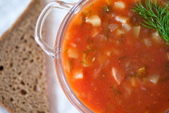 Fresh tomato soup. Minestrone Stock Images