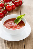 Fresh tomato soup Royalty Free Stock Photo