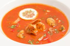 Fresh tomato soup Stock Photography