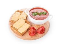 Fresh tomato soup Royalty Free Stock Image
