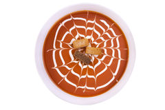 Fresh tomato soup in a white bowl Royalty Free Stock Photography