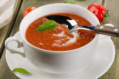 Fresh tomato soup Royalty Free Stock Images
