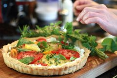 Fresh Tomato Tart Stock Images