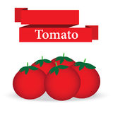 Fresh tomato on white background vector Stock Photos