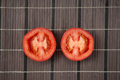 Fresh tomato. On wood table Royalty Free Stock Image