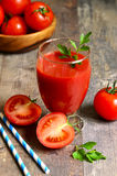 Fresh tomatoe juice. Royalty Free Stock Image