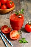 Fresh tomatoe juice. Royalty Free Stock Image