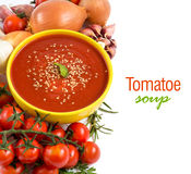 Fresh tomatoe soup Royalty Free Stock Image