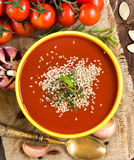 Fresh tomatoe soup Royalty Free Stock Images