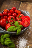 Fresh tomatoes in a bowl Stock Photos