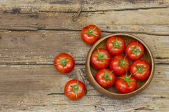 Fresh tomatoes in a bowl Royalty Free Stock Photography