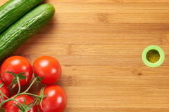 Fresh tomatoes and cucumbers Royalty Free Stock Photography