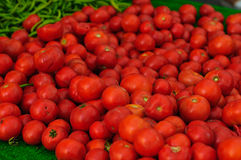 Fresh Tomatoes On a District Bazaar Stock Photos