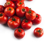 Fresh tomatoes with drops of water Royalty Free Stock Image