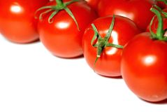 Fresh tomatoes frame background Royalty Free Stock Images