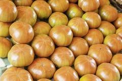 Fresh tomatoes on a market Royalty Free Stock Photo