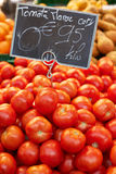 Fresh tomatoes on market Stock Images