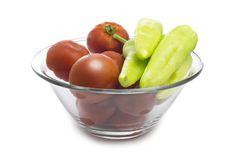 Fresh Tomatoes and Pepper Stock Image