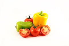 Fresh tomatoes and peppers Stock Image