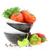 Fresh tomatoes and peppers Royalty Free Stock Photography