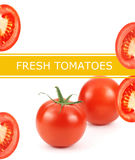 Fresh tomatoes poster Stock Photos