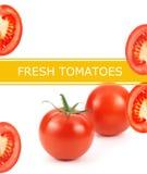 Fresh tomatoes poster Stock Photos