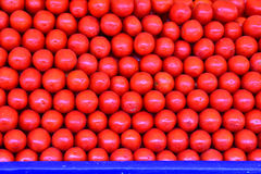 Fresh tomatoes. Fresh red cherry tomatoes stacked on the counter .organic and from the field Stock Image