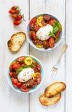 Fresh tomatoes salad. Stock Photos