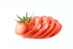 Fresh tomatoes slices Royalty Free Stock Image