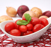Fresh tomatoes. Some fresh tomatoes in a bowl Stock Images