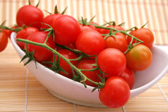 Fresh tomatoes. Some fresh tomatoes in a bowl Royalty Free Stock Image